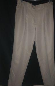 Perry Ellis Mens Cuffed Creme Pants 38/32